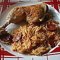 Cuisse de poulet au chorizo et vermicelle