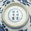 Blue-and-white bowl with flowers and fruits, Ming dynasty, Xuande mark and period, AD1426–35 3