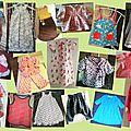REALISATIONS pour enfants faites en cours de couture