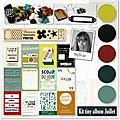 Kit tiny album du mois de juillet, sylvie
