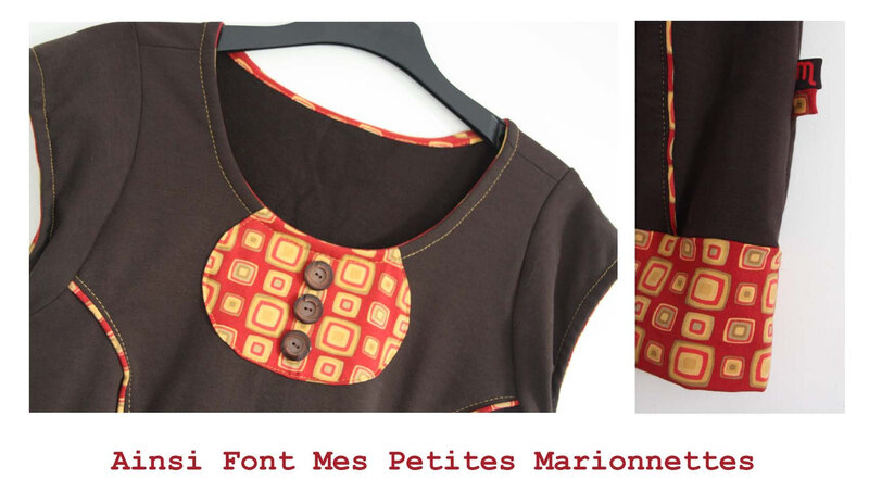 robe sweat marron rouge moutarde (2)