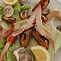 Trani - assiette de fruits de mer