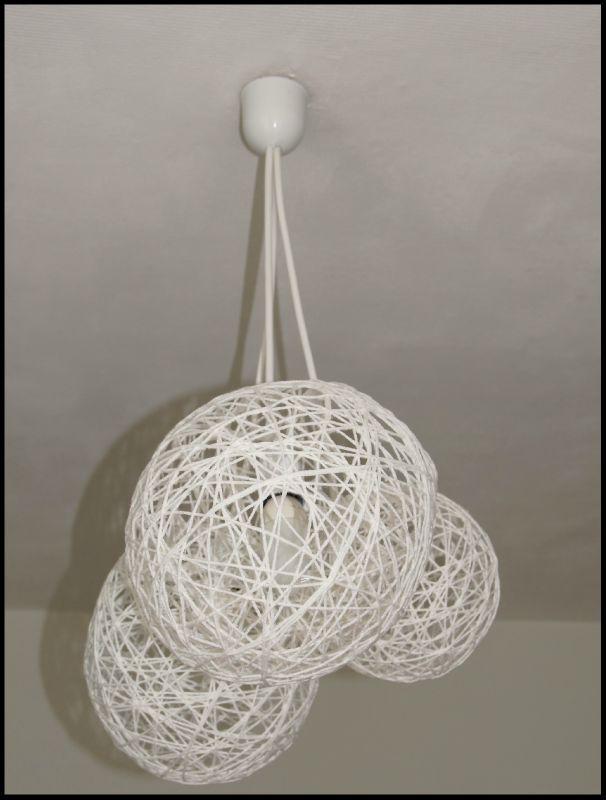 lustre boule ficelle les cr ations de tagada. Black Bedroom Furniture Sets. Home Design Ideas