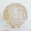 Déco vintage ... globe en verre nacré * luminaire