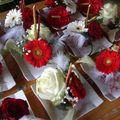 Préparation déco florale mariage Aurélie (J-1)