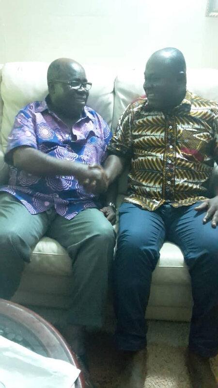 LE REPRESENTANT DU FPI AU BENIN, KONAN GUY ANSELME CHEZ LE VICE-PRESIDENT GNAGNE YADOU MAURICE