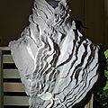 Col écahrpe feutre de laine structuré