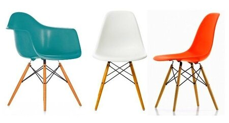 chaises Charles et Ray Eames