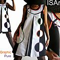 Les robes pour la saison printemps 2013 s'annoncent trapèzes, chasubles & d'influences sixties chez isamade !