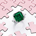 12.04 carat natural untreated colombian emerald and diamond ring