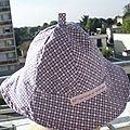 chapeau reversible rouge 1