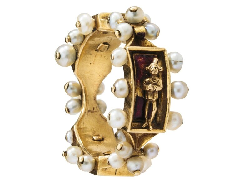Renaissance Enamel Ring, France-Flanders, Burgundy, mid-15th century