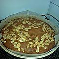 Gâteau poire, chocolat, amandes
