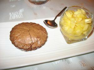 brownies chocolat ananas