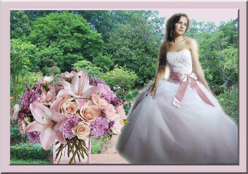 mariée et fleurs