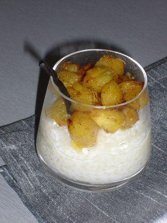 ananas et tapioca au coco