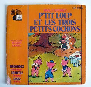 vintage - P'tit Loup Et Les Trois Petits Cochons Vinyle - 2 euros