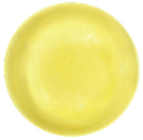 A rare yellow-glazed saucer dish, Zhengde six-character mark and of the period (1506-1521)