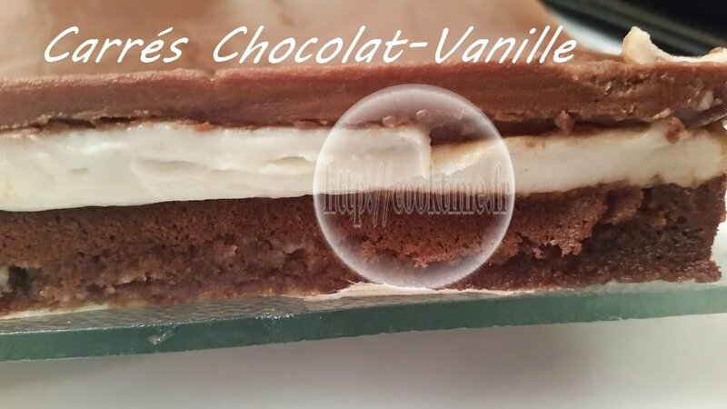 Carrés Choco Vanille au Thermomix 9