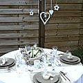 Nuit des anges décoratrice de mariage décoration de table lin 003