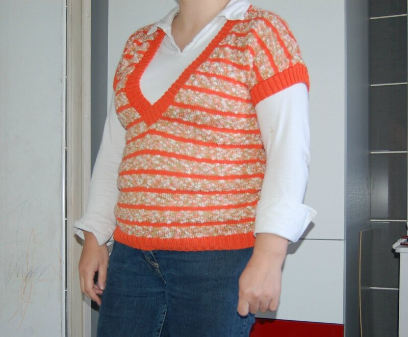 Pull estivale coton fifty orange