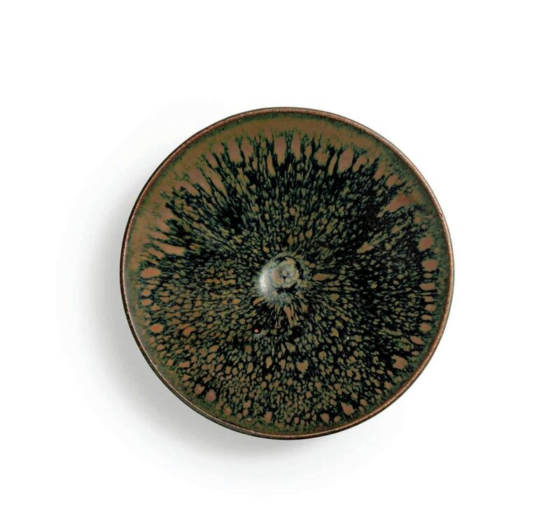 A russet-splashed 'partridge feather' conical tea bowl, Northern Song dynasty (960-1127)