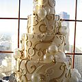 Wedding cakes en blanc et or