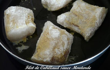 Filet de Cabillaud sauce Moutarde