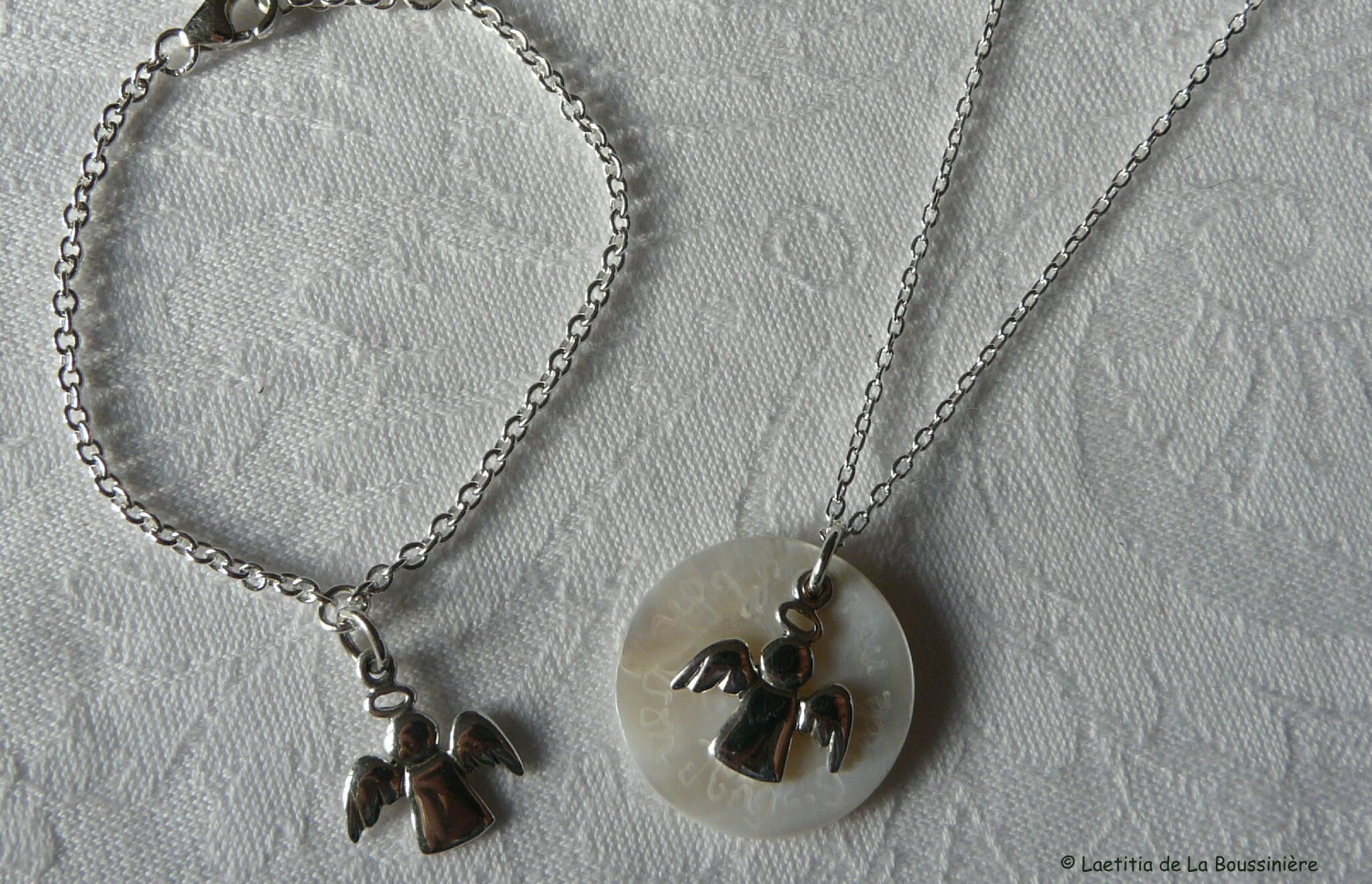 Bracelet mon Bon Ange et collier Ange Gardien