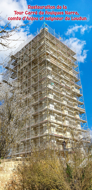 Restauration de la Tour Carré de Foulques Nerra, comte d'Anjou et seigneur de Loudun