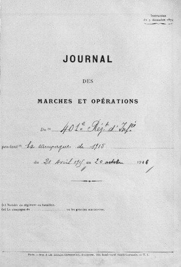 JMO 401e régt d'inf, 1915-196