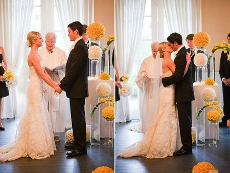Yellow-and-white-modern-wedding
