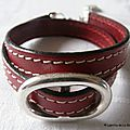 Bracelet double Grain de Café (rouge)
