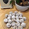 Biscuits boules de neige à la noisette
