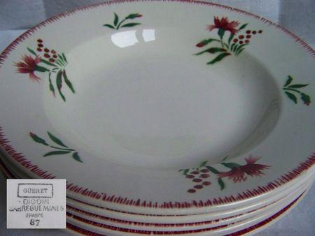 Assiettes creuses Gueret (1) Fan de Digoin