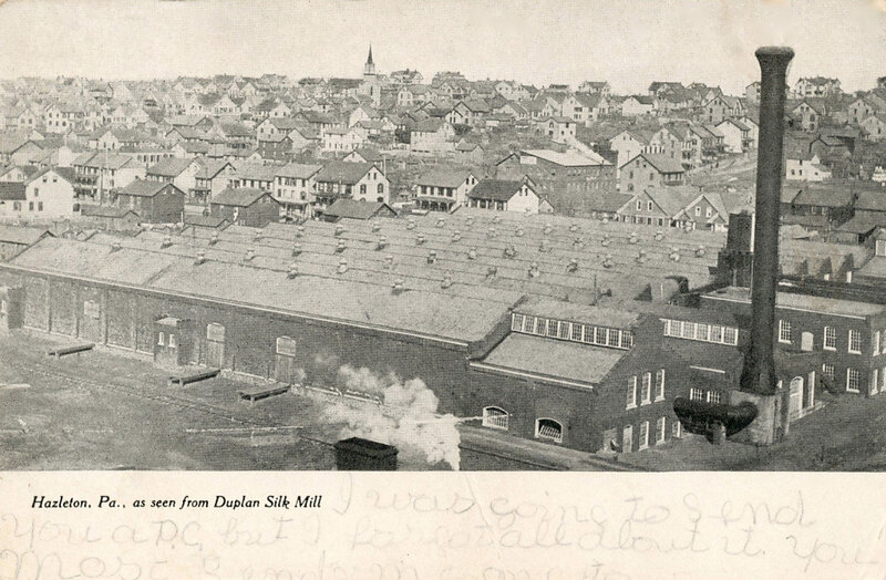 Hazleton, see from Duplan Silk Mill, 1907