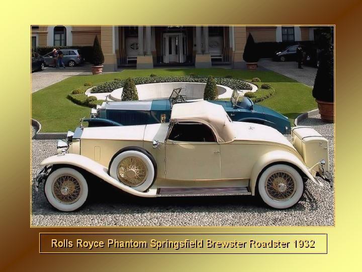 1932 - Rolls Royce Phantom Sprinsfield Brewster Roadster