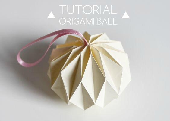 boule de noël origami tuto