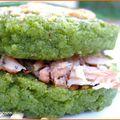 Hamburger vert aux maquereaux fumes poivres