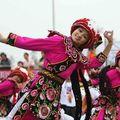 Des spectacles lors de la cérémonie de départ à Chengdu