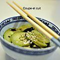 Salade de concombre aux algues et au sésame