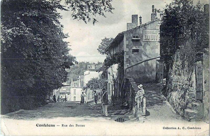 1901-06-30 - Confolens rue des Buttes