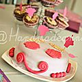 Gâteau d'anniversaire thème cupcakes par Sophie