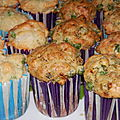 Muffin petits pois et chèvre