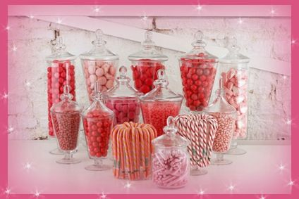sweet table candy bar