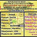 Les différents pays et ville dont le maître marabout médium zanto akoue montre ses puissances