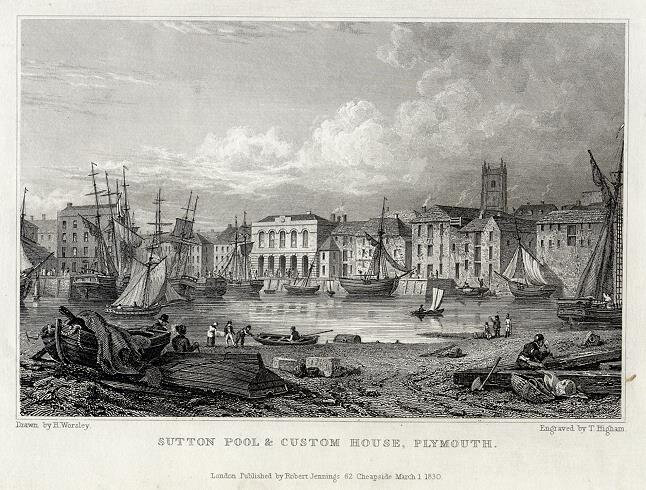 PLYMOUTH GRAVURE 1834