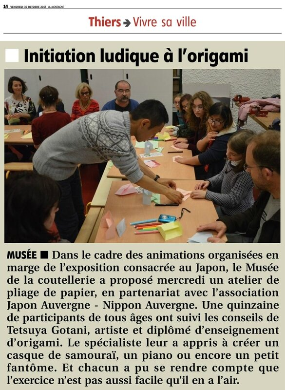 article La Montagne Origami musee Thiers 30102015