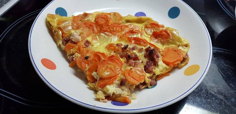 quiche sans pâte aux carottes