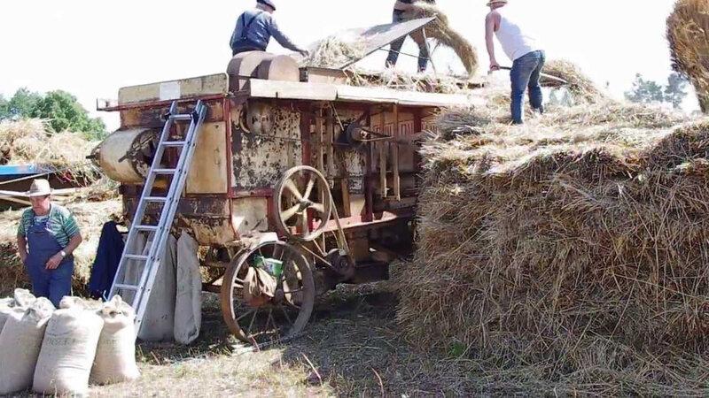 Battage des blés début XX